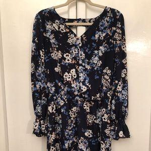 Lila Rose long sleeve floral dress